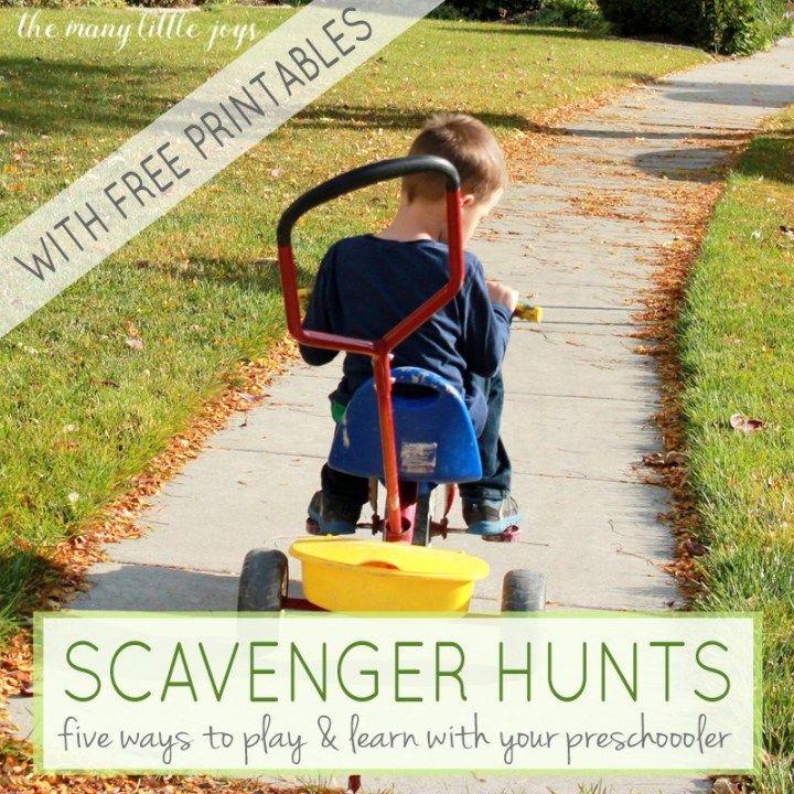 Preschool Scavenger Hunts: 5 Ways To Play