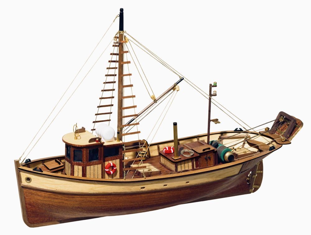 Occre Palamos Fishing Boat 1 45 Scale Model Boat Display Kit Model Boats Boat Design Model Boats Kits