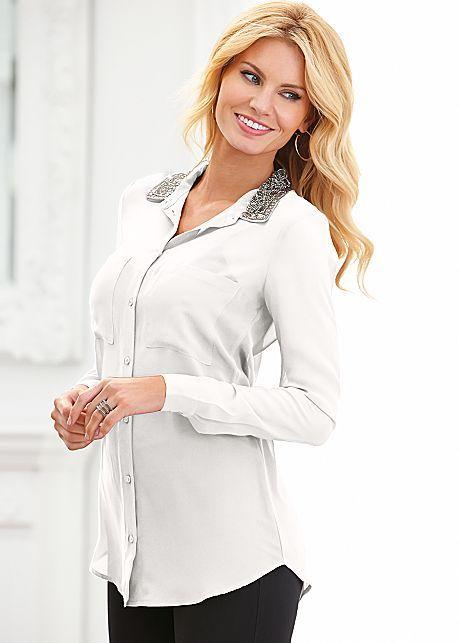 Embellished collar blouse by VENUS