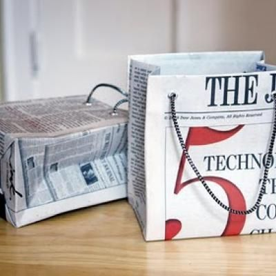 Tutorial for newspaper gift bags...