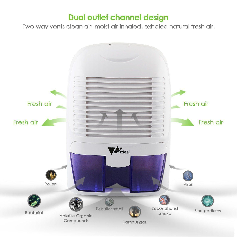 Amzdeal Portable Mini Dehumidifier for Bathroom Bedroom