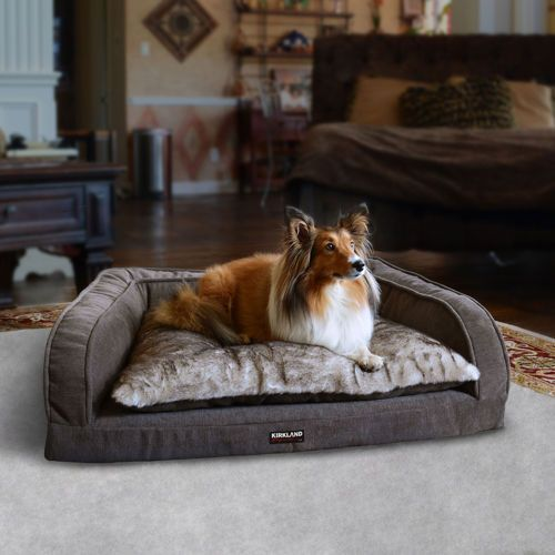 Kirkland Signature Soft Gray Bolstered Sofa Pet Bed
