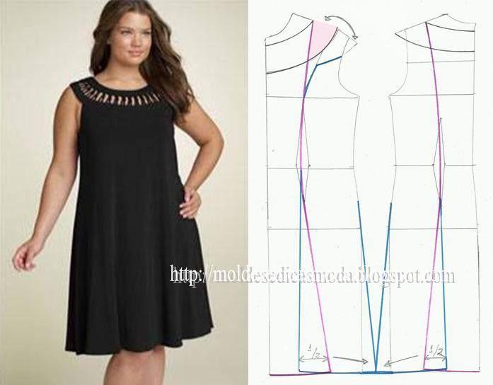 vestido. | moldes do printerest | Pinterest | Vestiditos, Costura y ...