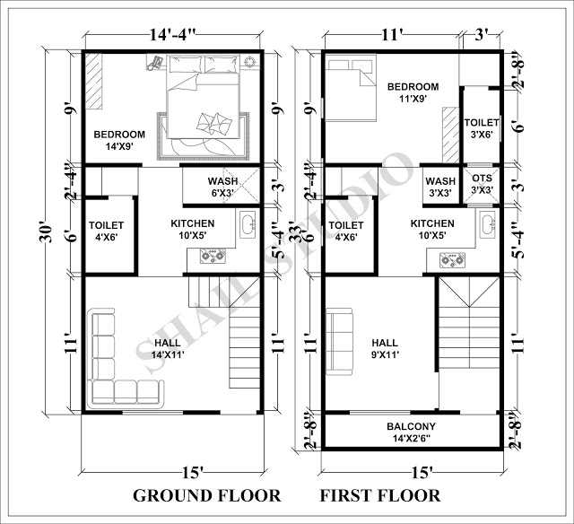 15x30 House Plan With 3d Elevation By Nikshail Indian House Plans House Plans Town House Plans