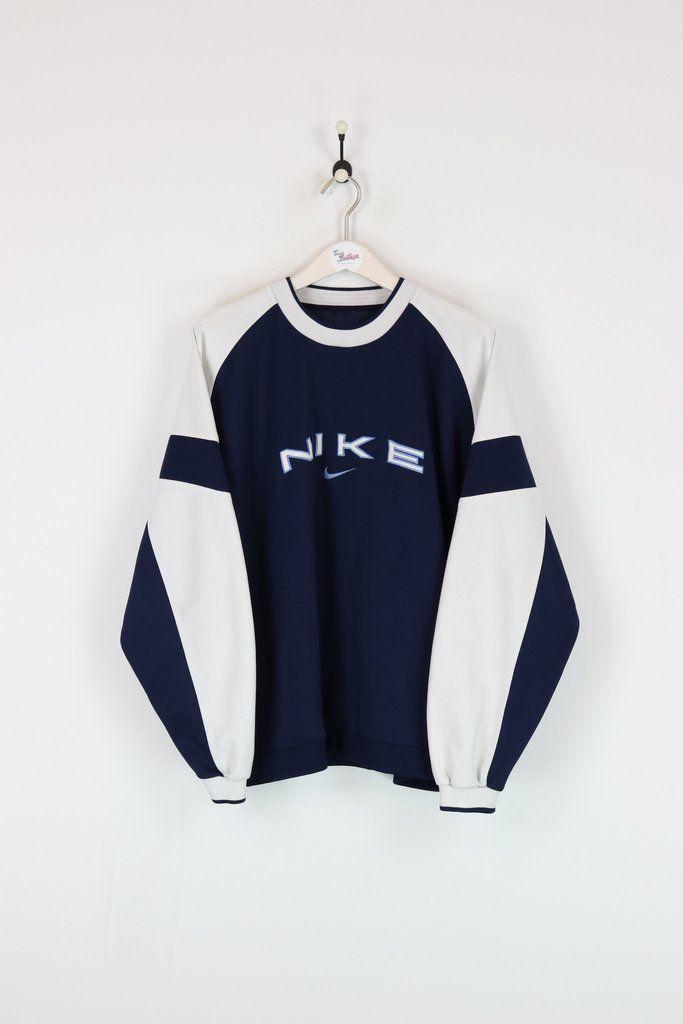 Nike Sweatshirt Navy White Xl Clothes Fashion Minimal Fashion