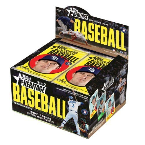 MLB 2012 Topps Heritage Retail, Pack of 24 by Topps. $39.49. The product that set collectors, traditionalists, autograph hounds, and baseball fans alike look forward to every year is back, this time celebrating the colorful, vibrant 1963 Topps set! All the stars of today are featured on a classic design of yesteryear in a product that every year celebrates the past, present, and future of Baseball all in one Base Cards: Regular Cards 500 cards in the classic 1963 Topps design, fe...