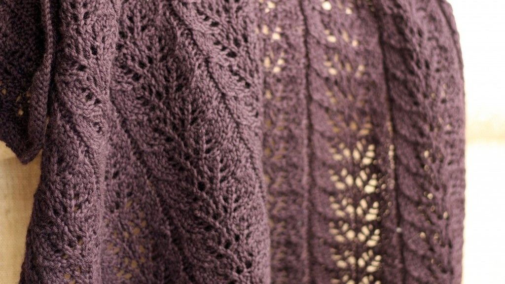 Image Of Twin Leaf Knitted Afghan Pattern Knitting Is Addictive