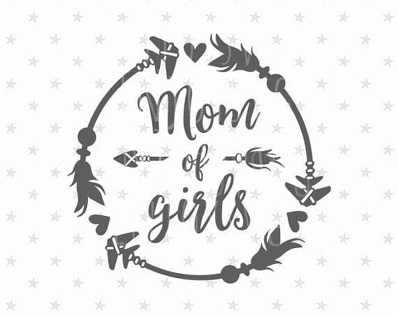 59d2be5cf4013 Mom of girls svg Best Mom svg Mom of girls svg file Mother's Day svg ...