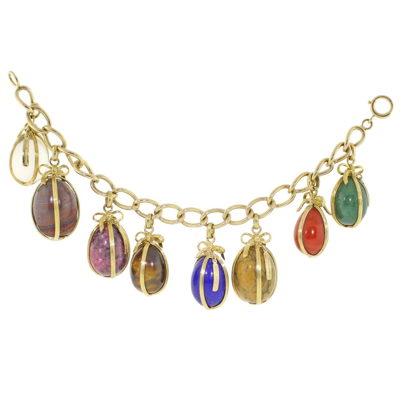 f44364c9b136e Tiffany and Co. Jean Schlumberger Egg Charm Bracelet | Jean ...