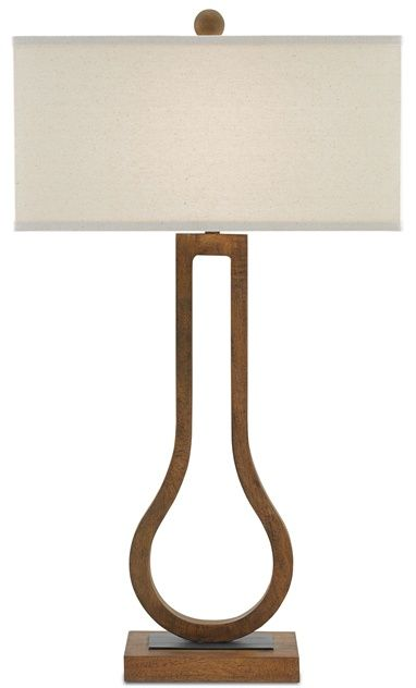 Click Here To View Larger Image Currey Co Faraday Lamp Wood