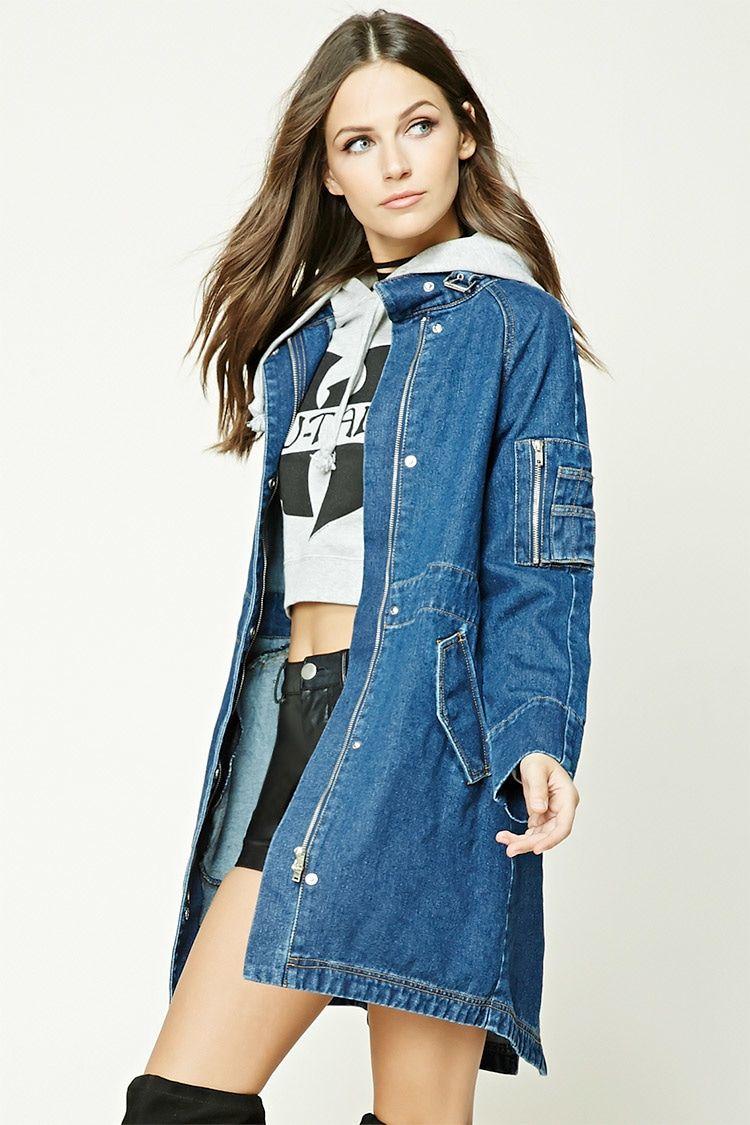 Womens longline denim jacket
