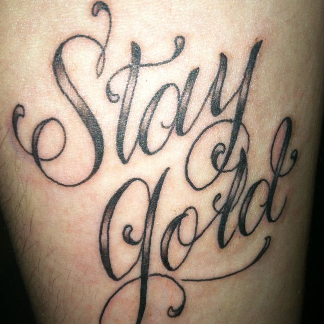 My Newest Tattoo Stay Gold On My Forearm Stay Gold Ponyboy Stay Gold Done By Etzl The Parlour Eugen New Tattoos Tattoos Tattoos And Piercings Share the best gifs now >>>. my newest tattoo stay gold on my