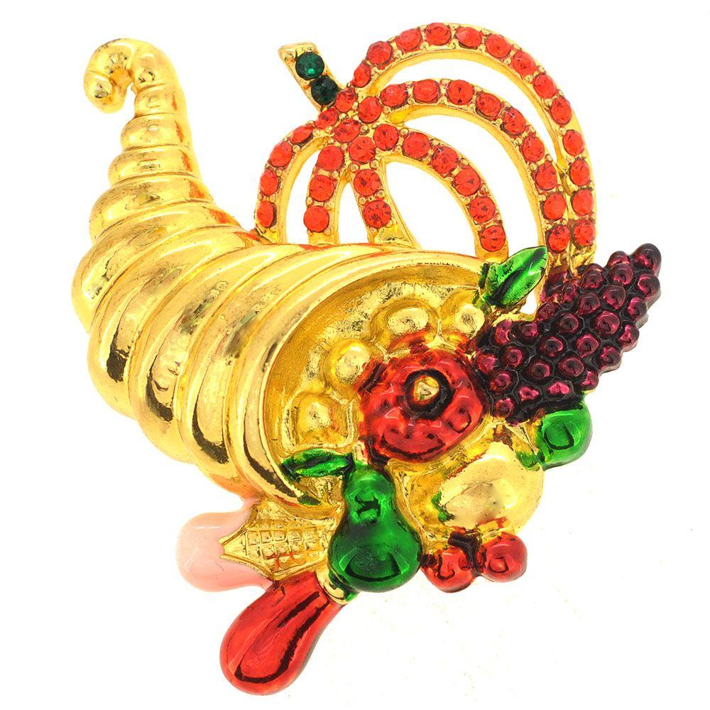 Fantasyard Swarovski Crystal Deep Pink Enamel Handbag Golden Pendant