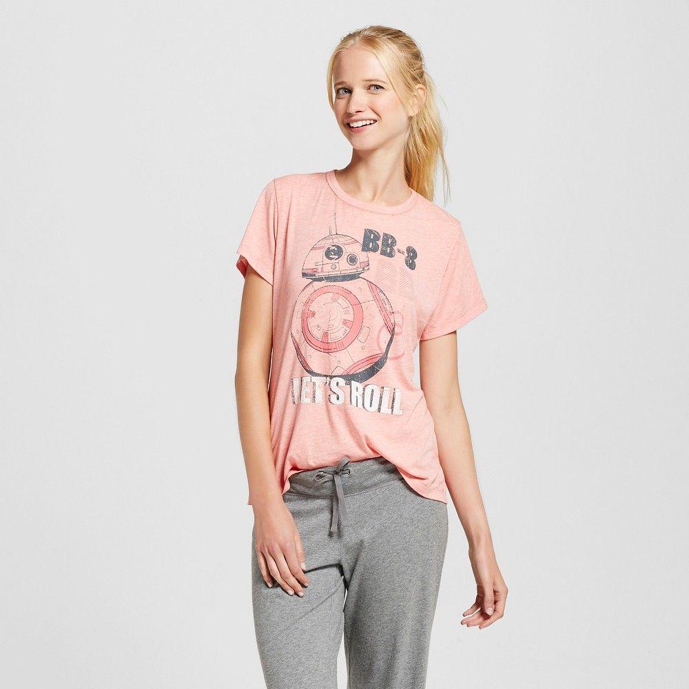Women's Star Wars Short-Sleeved Pajama Top - BB-8 - Pink L