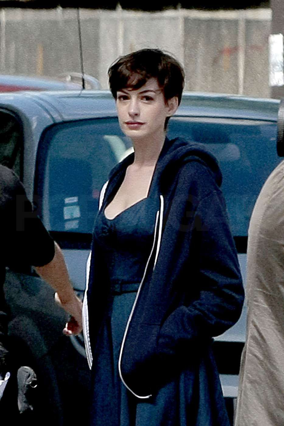 Attractive Anne Hathaway Short Hair One Day | Galleryhip.com   The Hippest .
