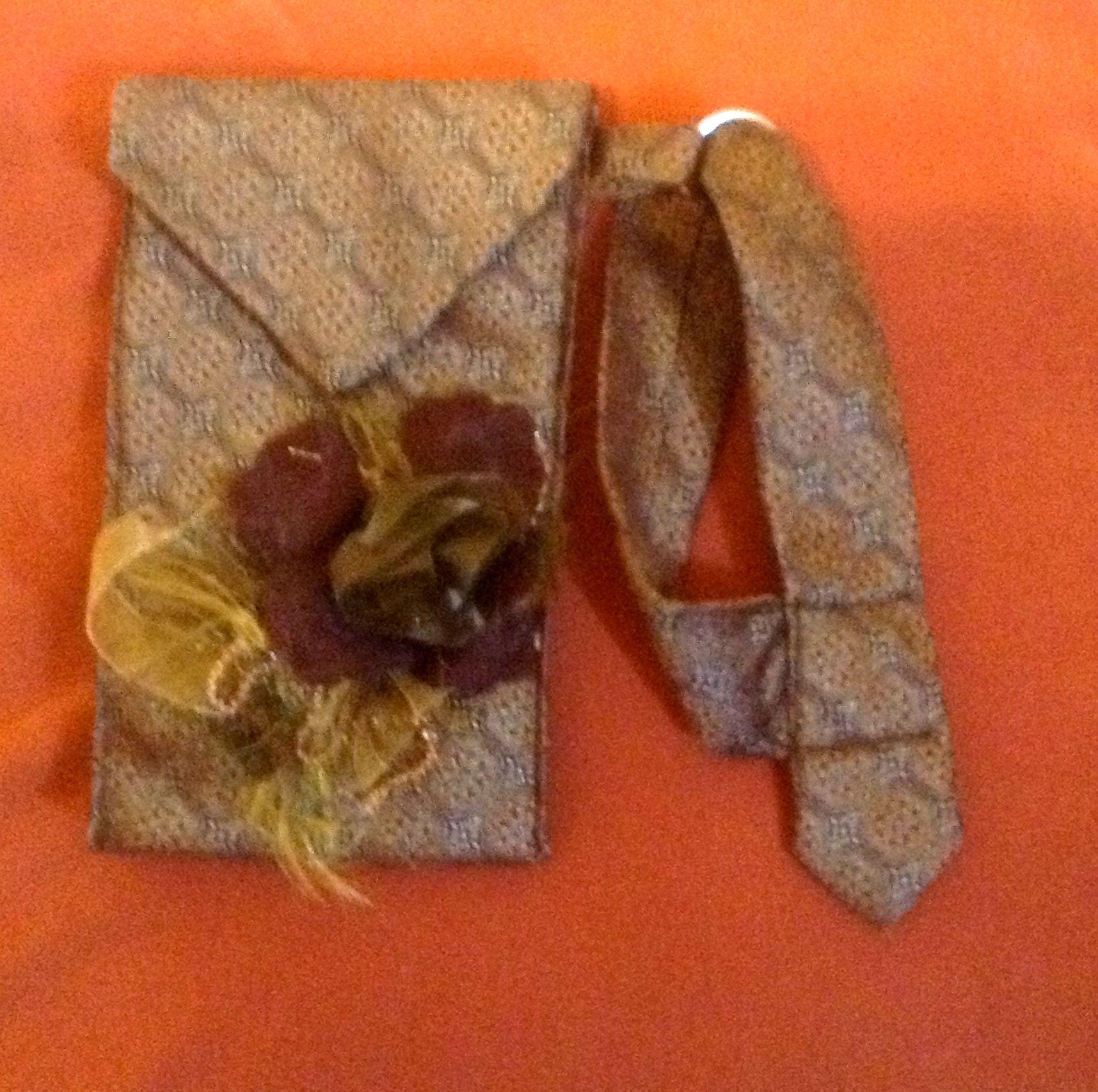 Tan golden with beautiful ribbon flowers tie bag tie bags by tan golden with beautiful ribbon flowers tie bag izmirmasajfo