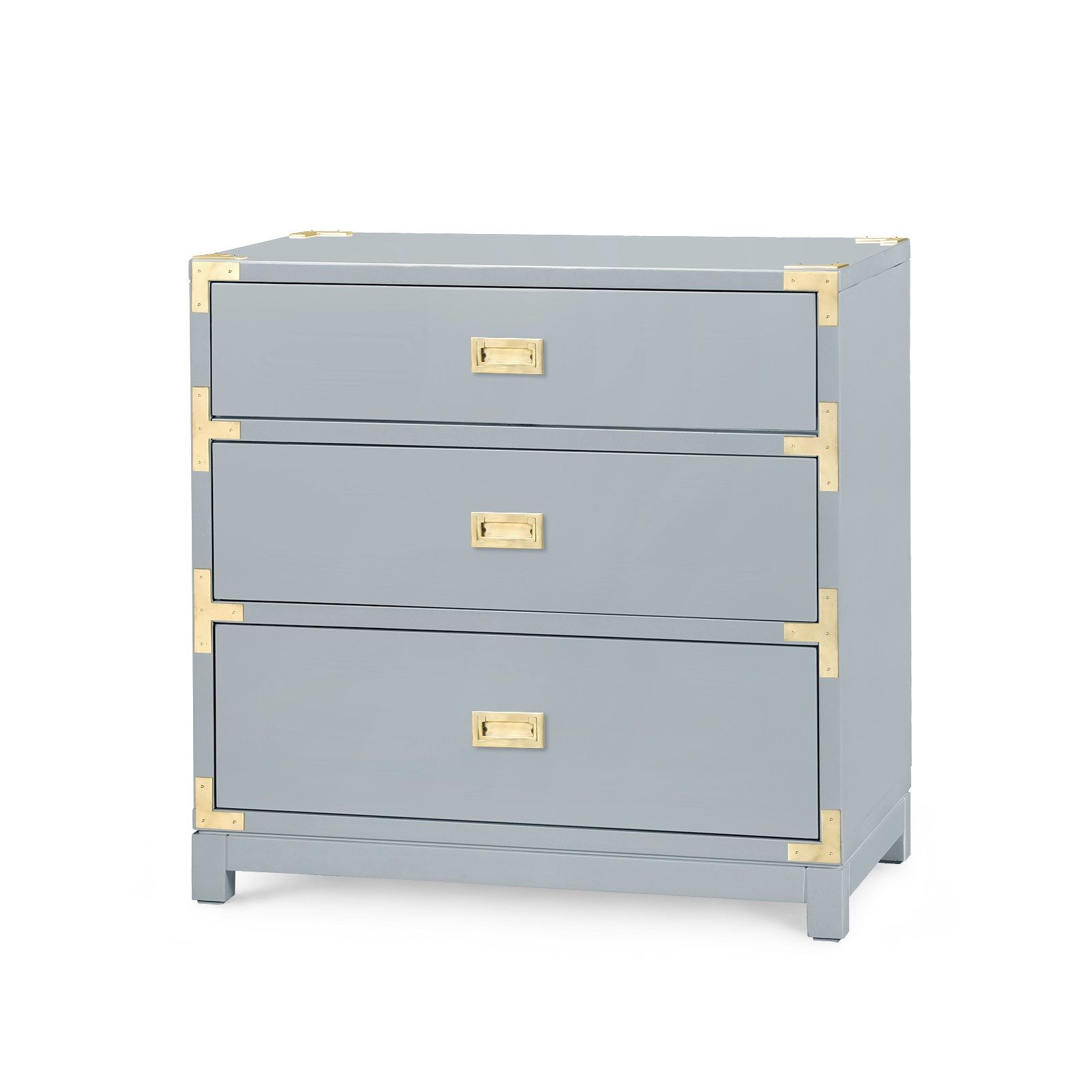 Victoria 3 Drawer Side Table Gray Bungalow 5