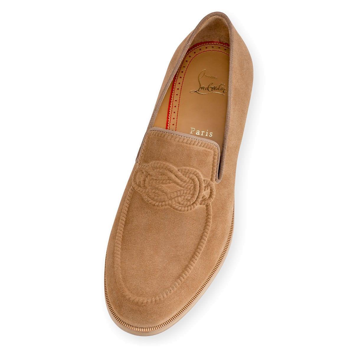 Christian Louboutin Dirk Flat Cappuccino Suede Men Shoes