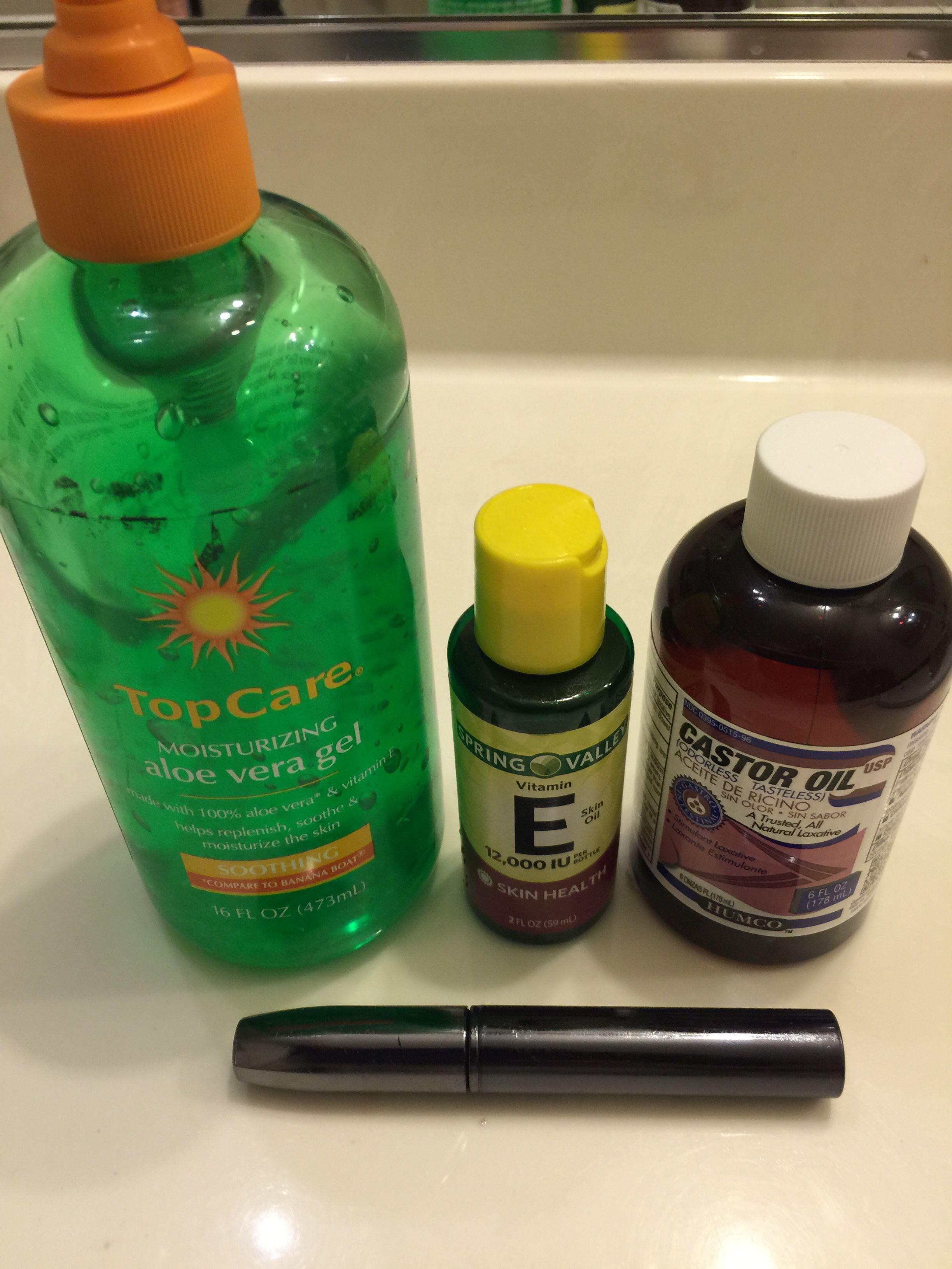 Diy eyelashes serum makes longer and thicker lashes mix 1