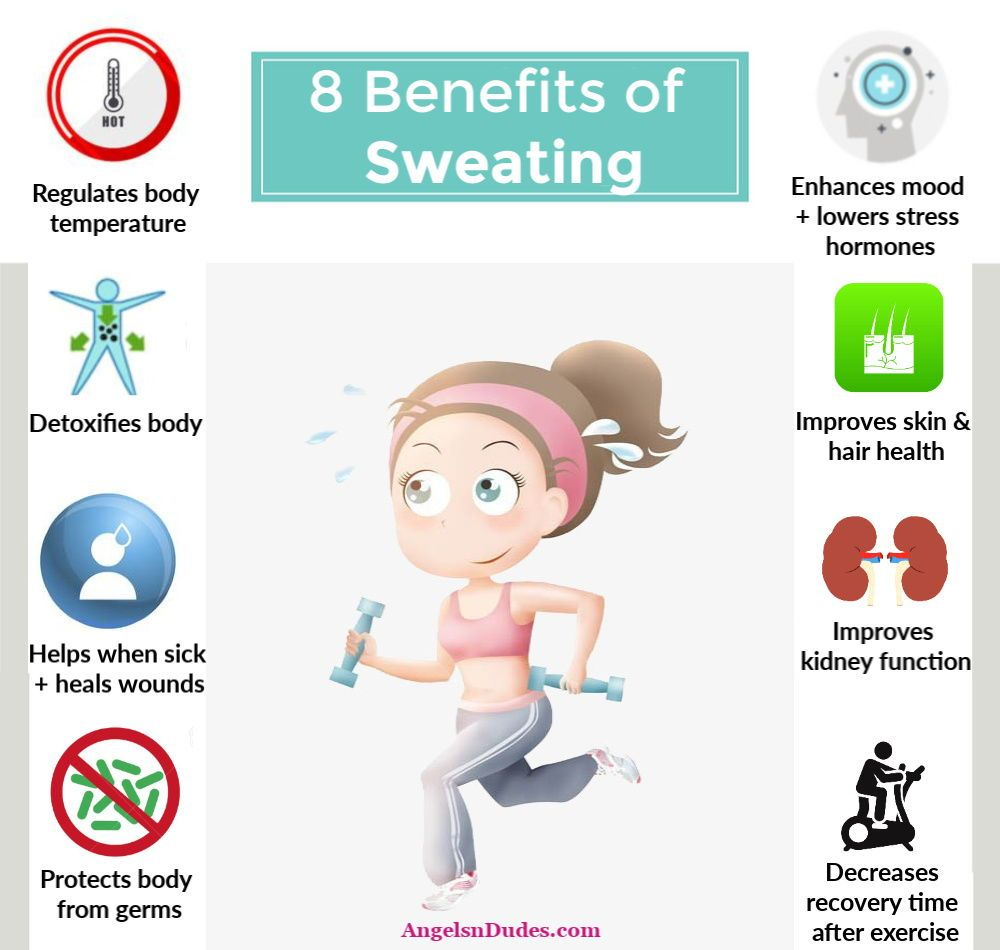 Sweating Has Lots Of Incredible Benefits. From Regulating