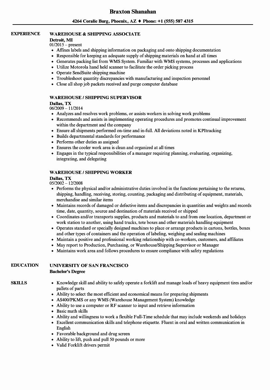 20 Warehouse Job Description Resume Mechanical engineer