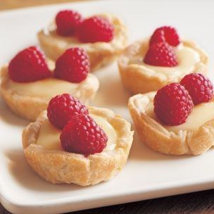 buttermilk tartlets with fresh spring berries!