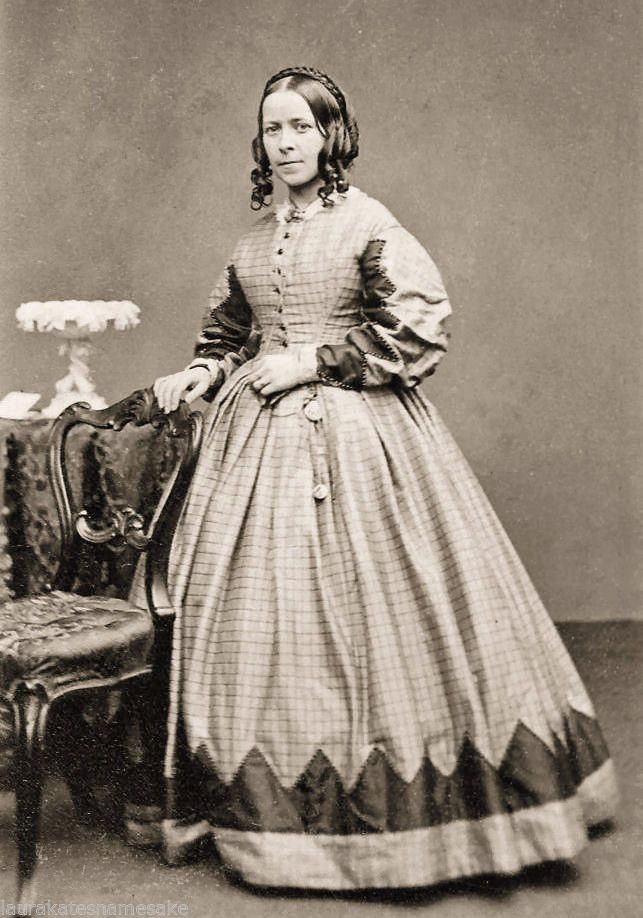 4 Prints Civil War Photos Women in Trimmed Dresses 1 | eBay