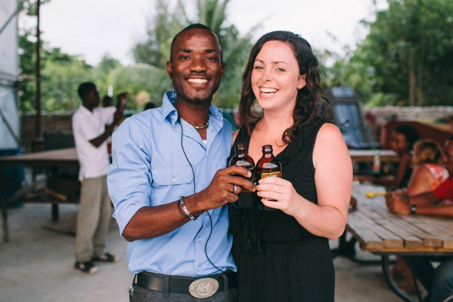 Keeping Haiti in Mind | Cheers, Volunteers. At English in Mind Institute | FATHOM
