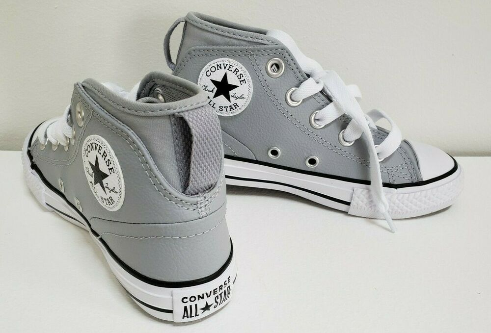 CHUCK TAYLOR CONVERSE ALL STAR GRAY LEATHER SHOES SNEAKERS