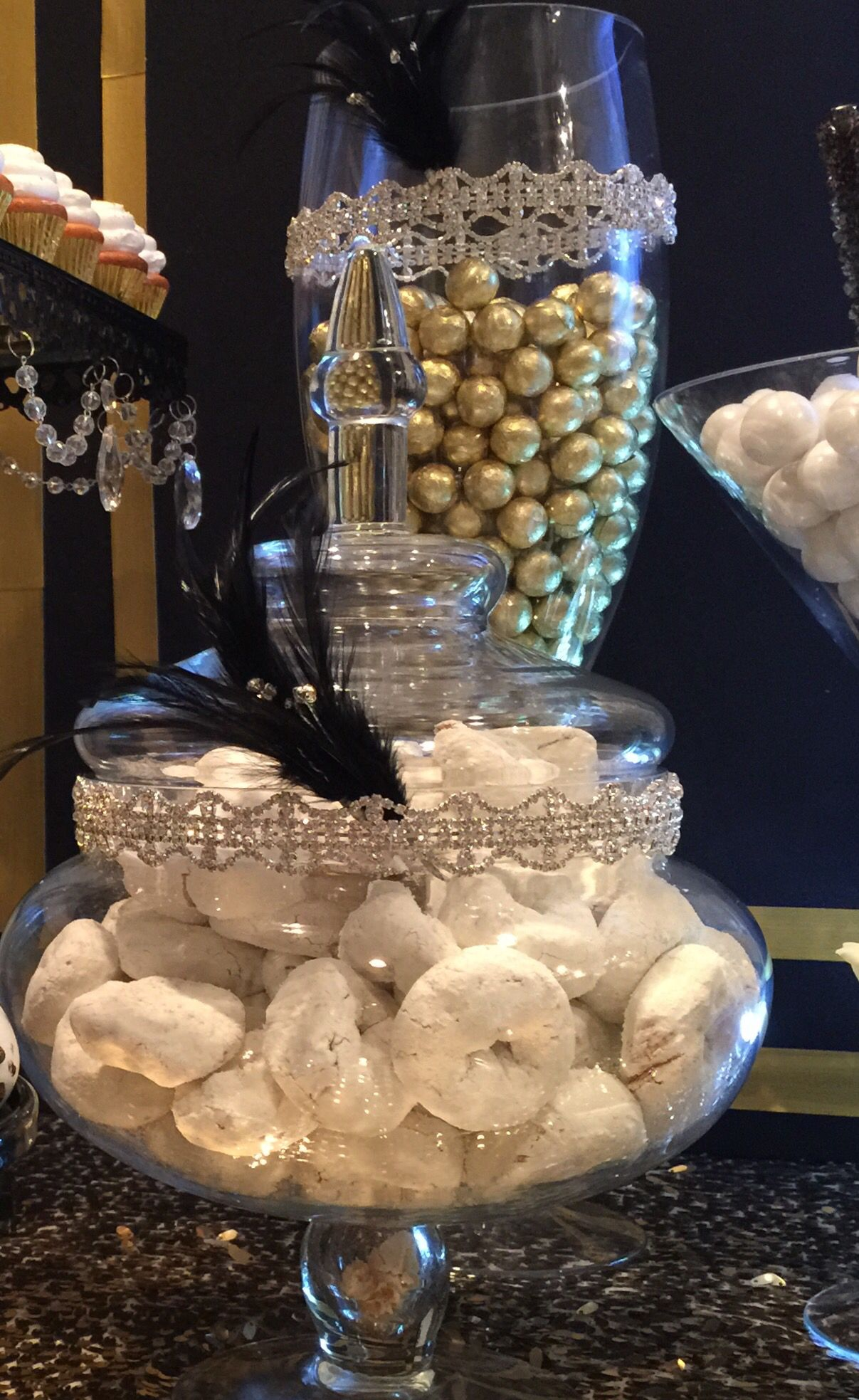 Great Gatsby Wedding DessertCandy Buffet Table By Bizzie