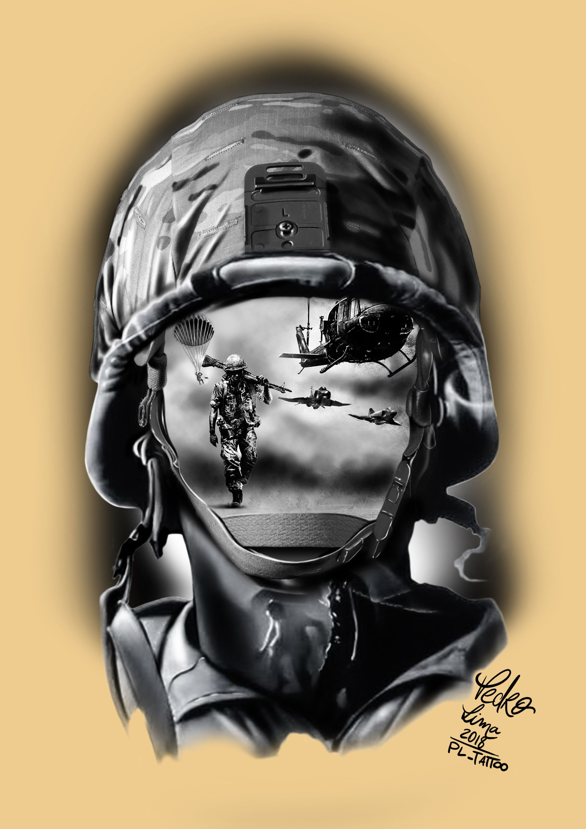 Soldier Military Tattoos Army Tattoos Soldier Tattoo
