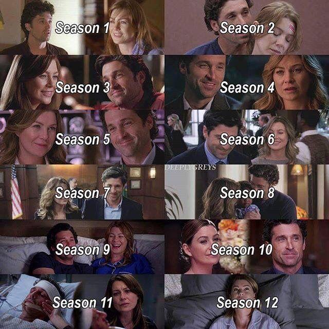 The change between season 1 and season 11 is heart breaking | Greys ...