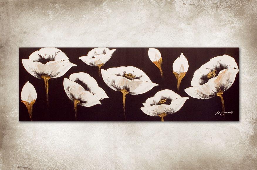 Schilderij, witte klaproos http://www.countrylifestyle.nl