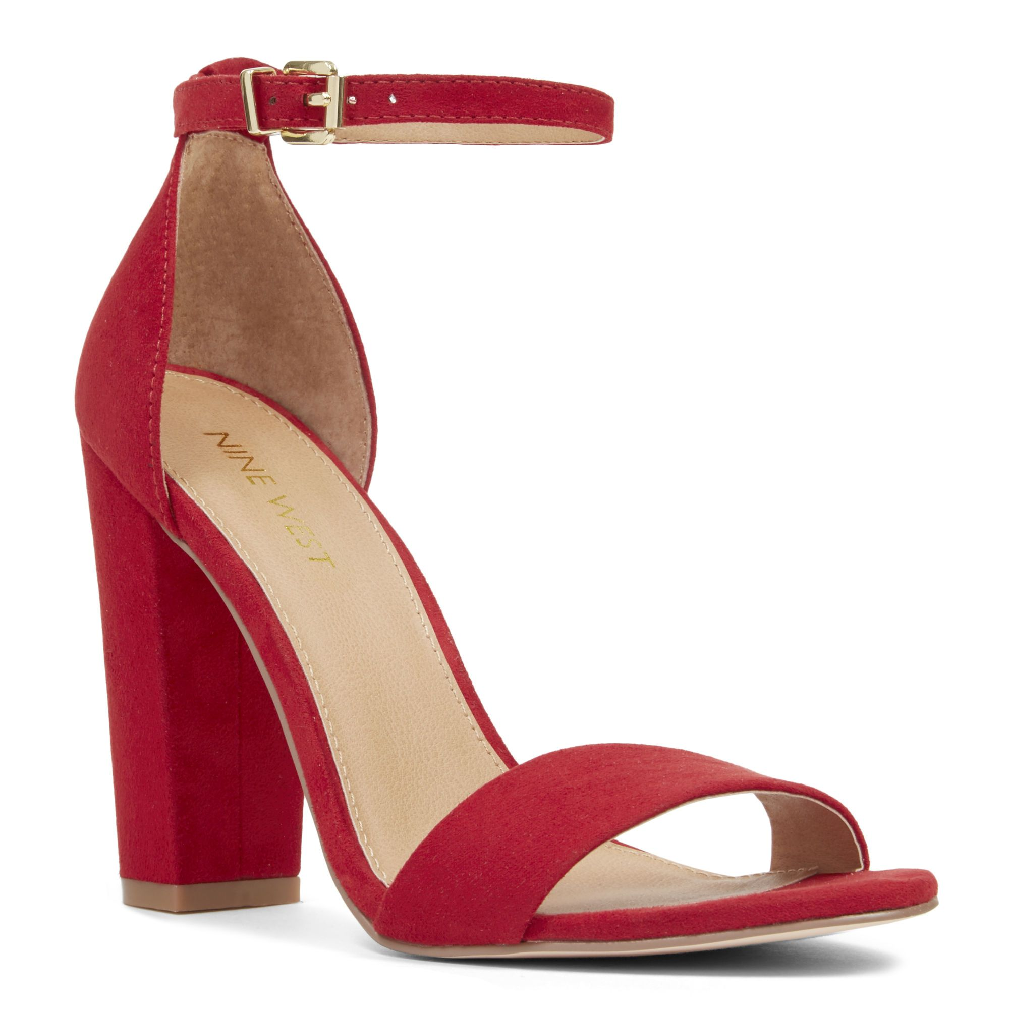 Red Reign Ankle Strap Sandals | Nine West