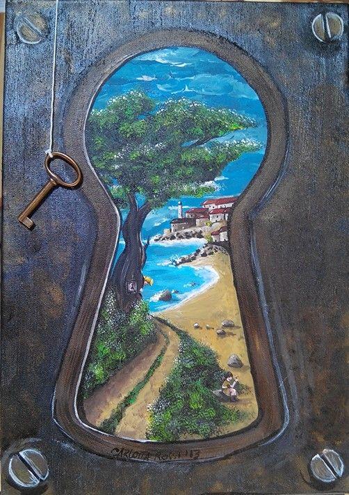 Keyhole By Carlotta Kinderkunst Coole Tekeningen Leer Tekenen