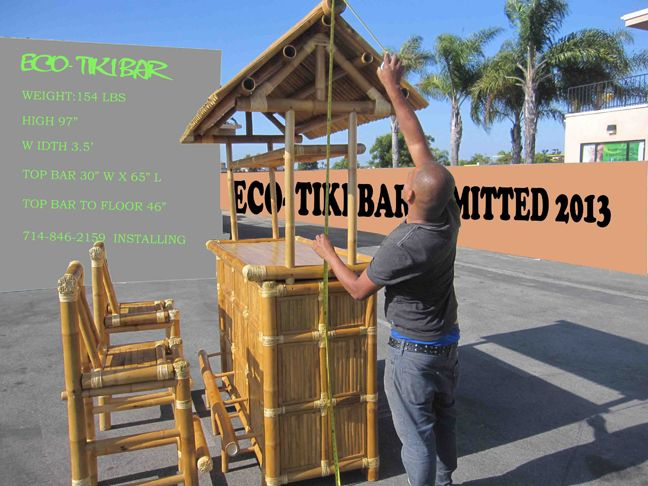 Tiki Bars And Huts (Bamboo) Bamboo Creasian / Custom Built   DIY Or
