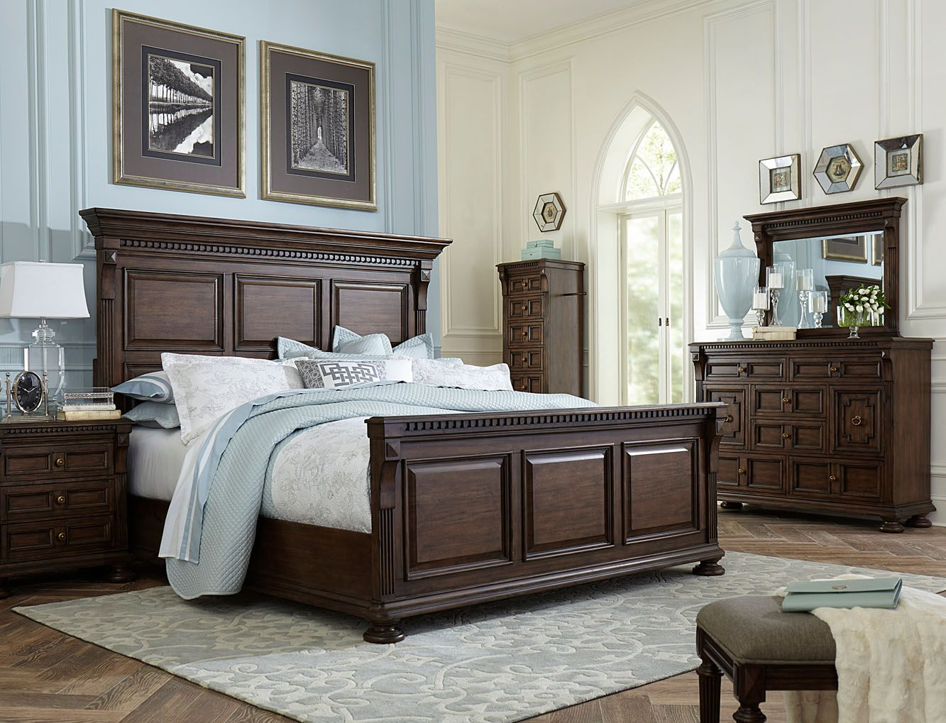 Broyhill Lyla? Panel Bedroom Set in Dak Spice | AMS Bedroom ...