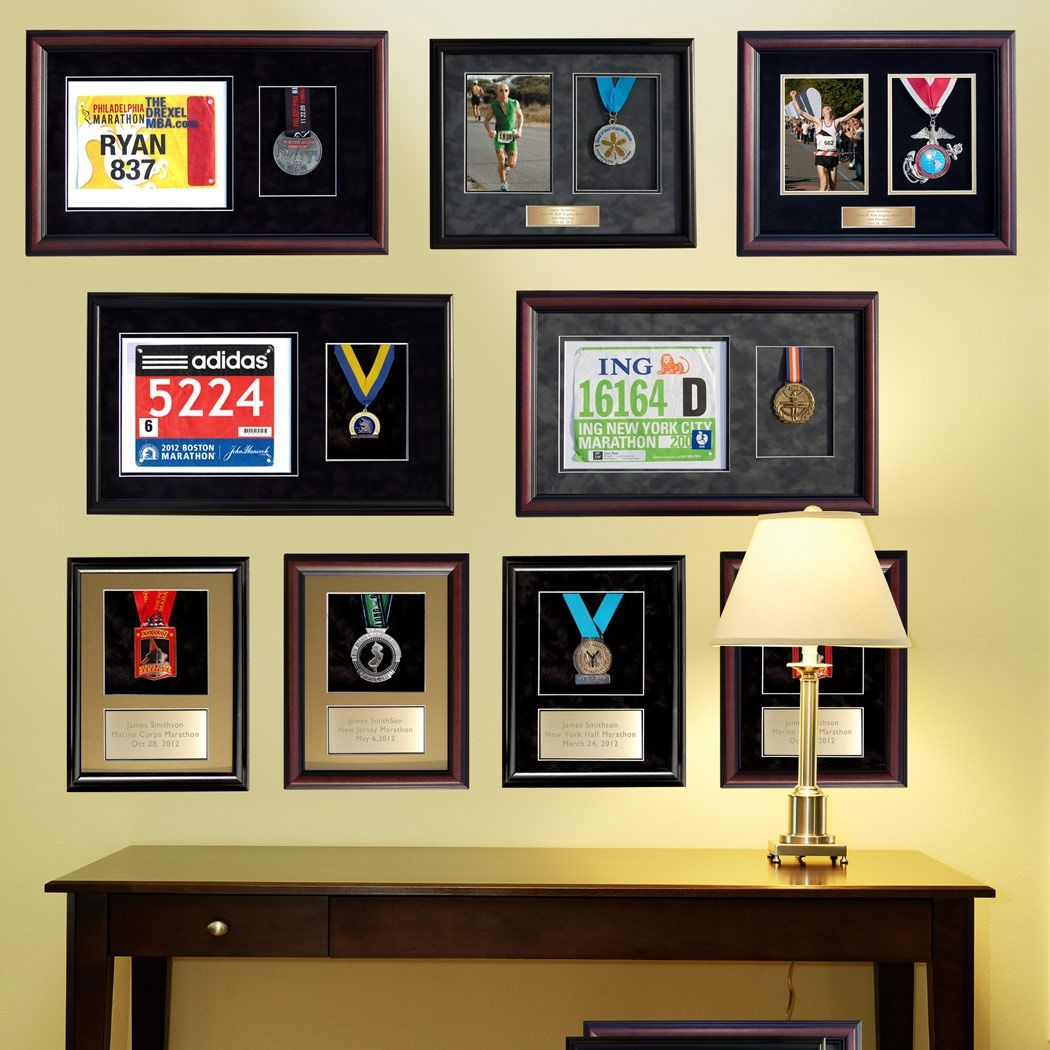 triathlon medal display frame - Google Search | trophy shelf ...