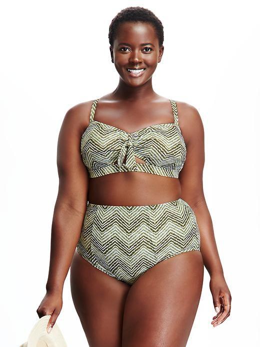 bandeau-tie plus-size bikini top | swimsuits worth the money