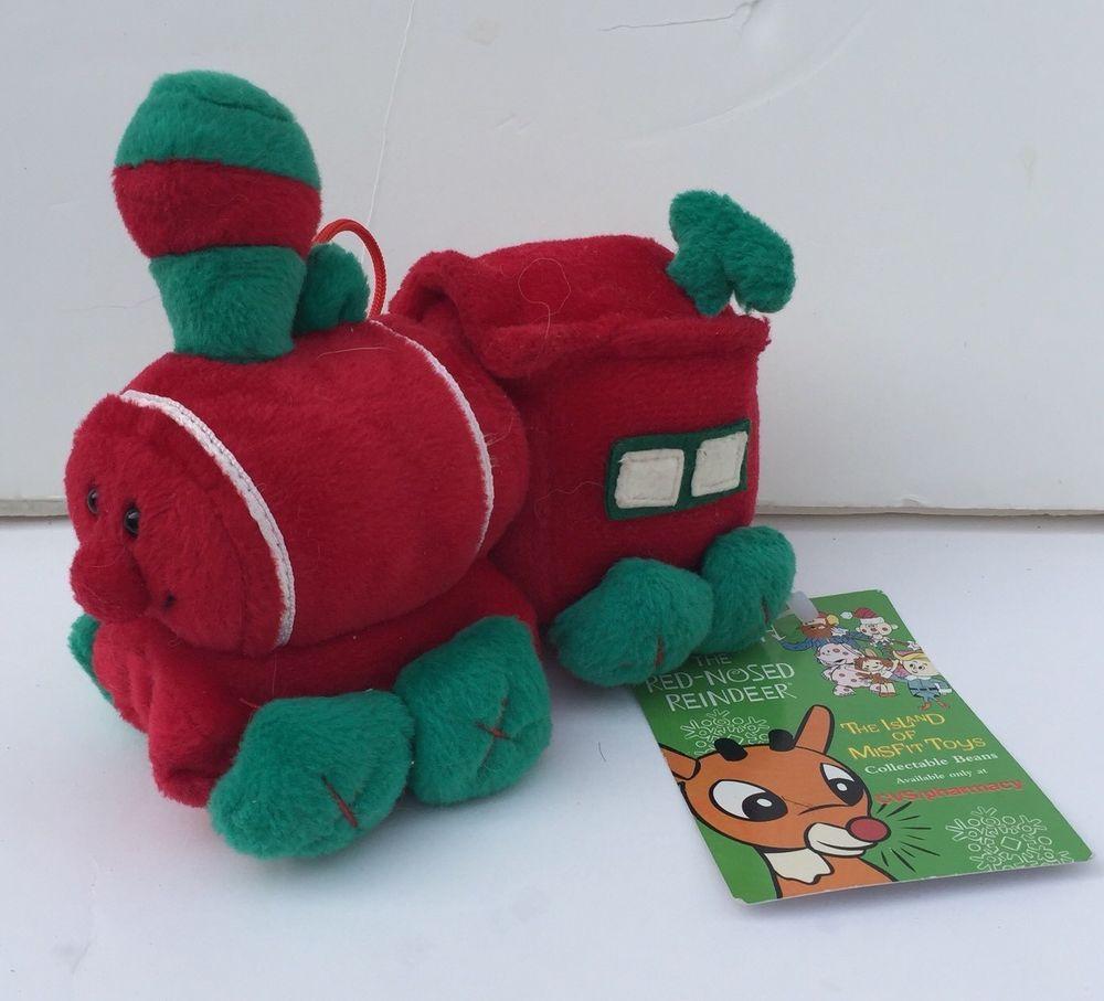 Stuffins Cvs 1998 Island Of Misfit Toys Plush Toy Train 6 With Tags Cvsstuffins Misfit Toys Toy Train Plush