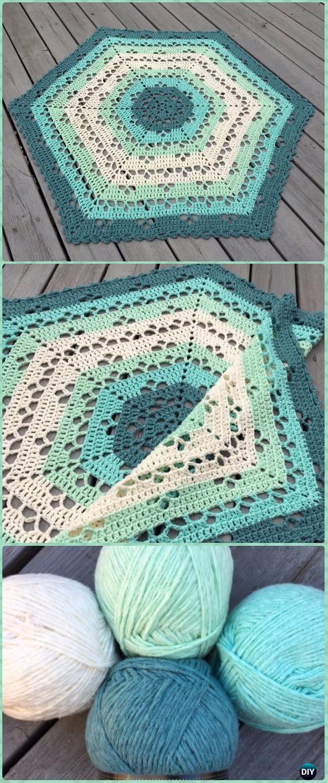 Crochet Circle Blanket Free Patterns Tapetes Pinterest Crochet