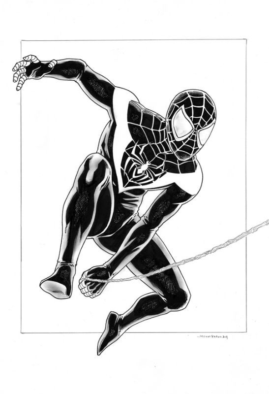 spiderman coloring pages miles morales | Resultado de imagen para miles morales spider man para ...