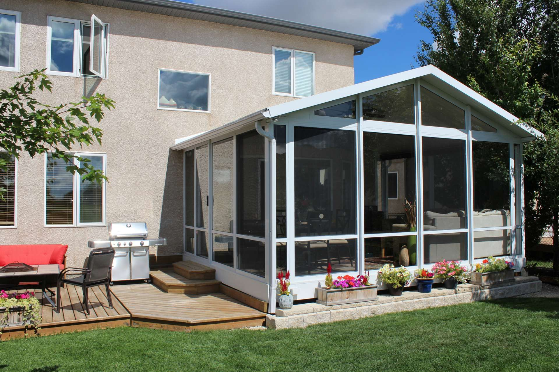 Mural Of Home Sunroom Addition Ideas