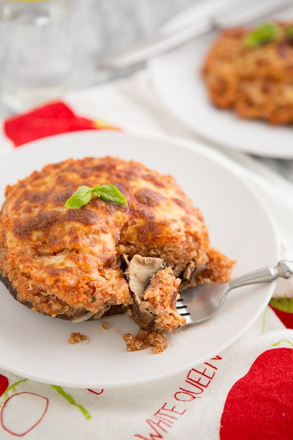 Pizza Quinoa Stuffed Portabella Mushrooms from @Oh My Veggies #AMushroomGathering