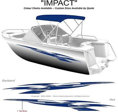Boat Graphics Decal Sticker Kit Impact 1800 Marine Cast Vinyl Boat Decals Boat Wraps Sticker Kits