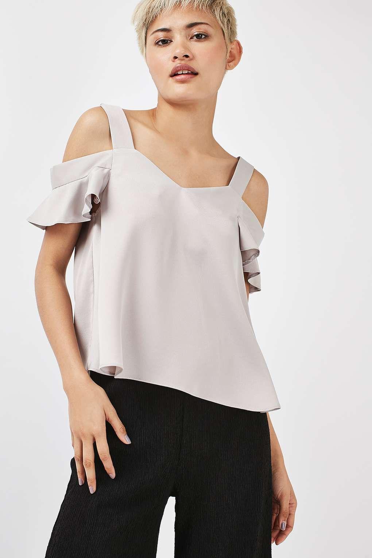 5e1cd913b72c95 PETITE Satin Polly Bardot - Petite - Clothing