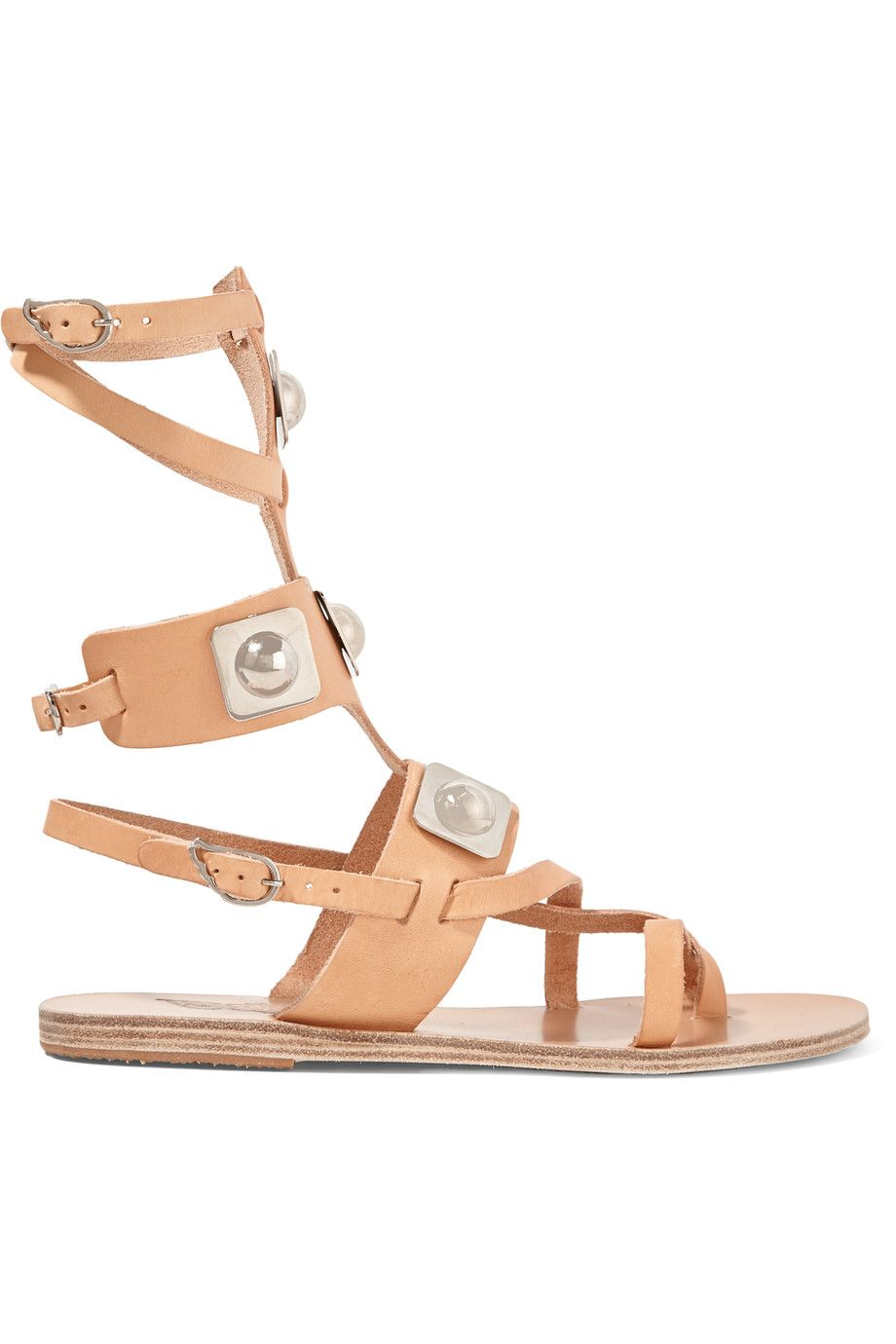 ANCIENT GREEK SANDALS + Peter Pilotto embellished leather gladiator sandals.  #ancientgreeksandals #shoes #