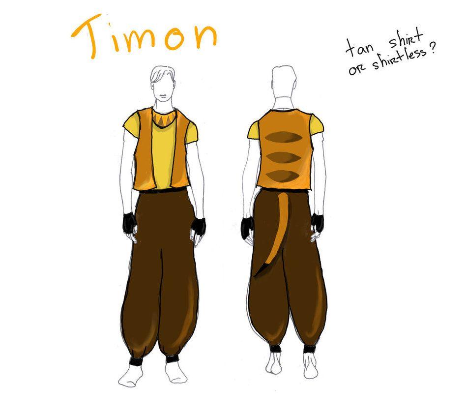 Timon Costume Design By Immortalxxxlover25 Lion King Jr Lion King Costume Lion King Timon