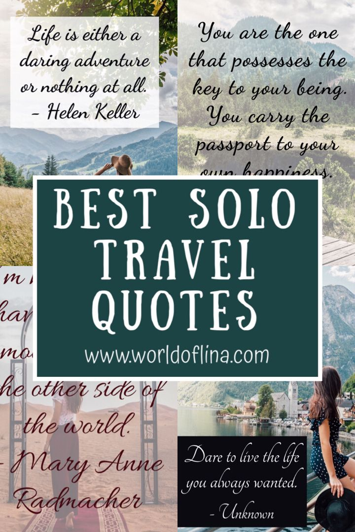 Check out this awesome collection of the best solo travel quotes that will inspire you to travel alone! #solotravel #travelalone #solotravelquotes #travelquotes #travelquotesinspirational
