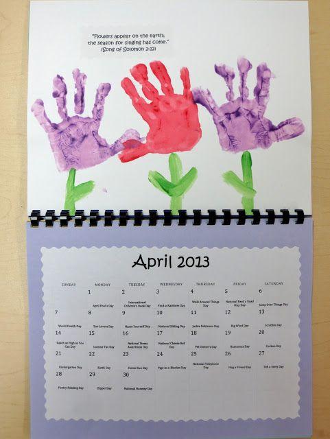 Calendar Handprint Art : Bible verse handprint calendar make one each summer for